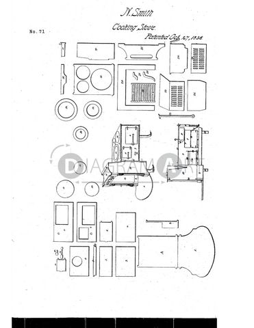 USPTO Patent_0000071 , Free Sketch - Diagramart Author, DiagramArt