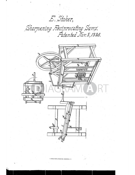 USPTO Patent_0000076 , Free Sketch - Diagramart Author, DiagramArt