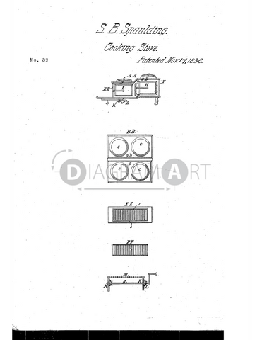 USPTO Patent_0000083 , Free Sketch - Diagramart Author, DiagramArt