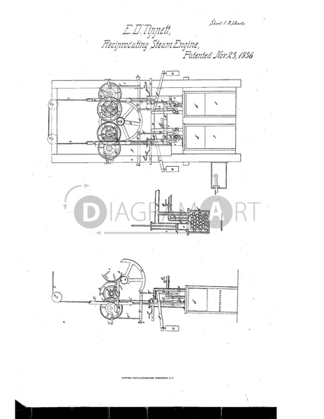 USPTO Patent_0000084 , Free Sketch - Diagramart Author, DiagramArt