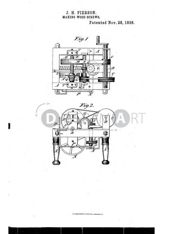 USPTO Patent_0000092 , Free Sketch - Diagramart Author, DiagramArt