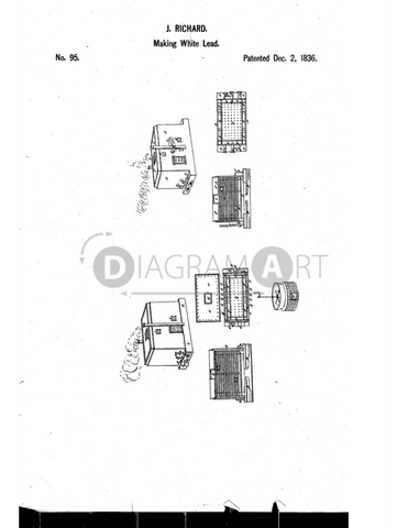 USPTO Patent_0000095 , Free Sketch - Diagramart Author, DiagramArt
