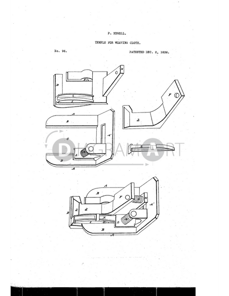 USPTO Patent_0000096 , Free Sketch - Diagramart Author, DiagramArt
