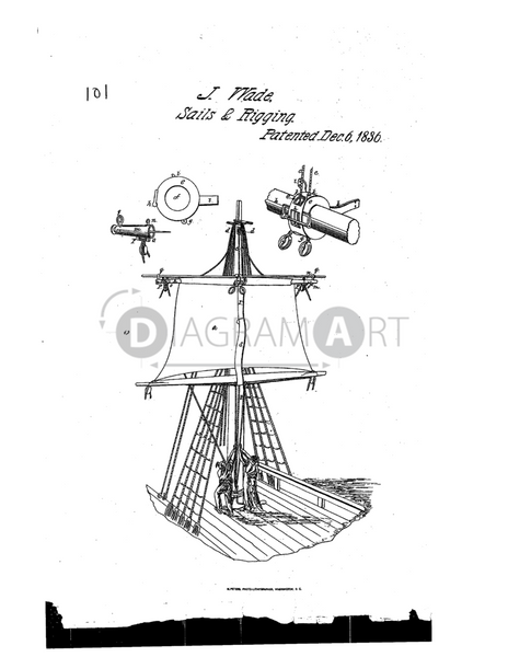 USPTO Patent_0000101 , Free Sketch - Diagramart Author, DiagramArt