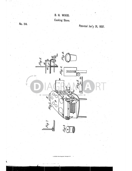 USPTO Patent_0000114 , Free Sketch - Diagramart Author, DiagramArt