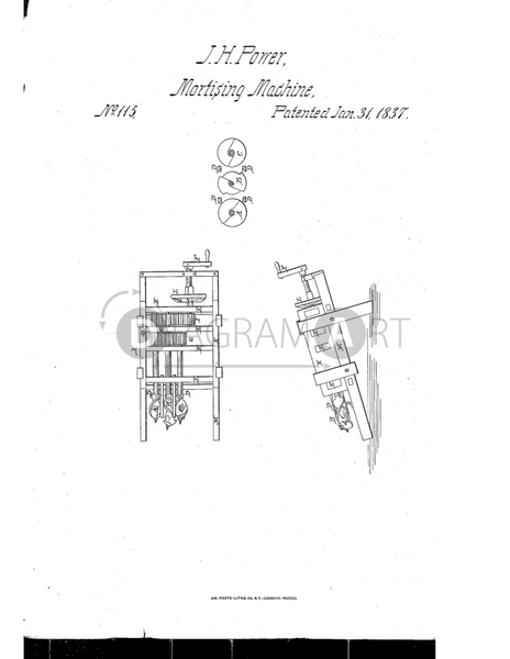 USPTO Patent_0000115 , Free Sketch - Diagramart Author, DiagramArt