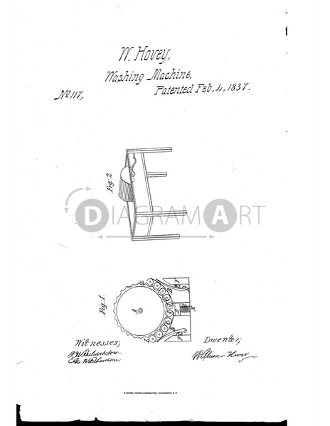 USPTO Patent_0000117 , Free Sketch - Diagramart Author, DiagramArt
