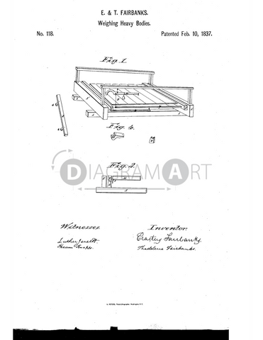 USPTO Patent_0000118 , Free Sketch - Diagramart Author, DiagramArt