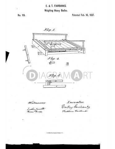 USPTO Patent_0000119 , Free Sketch - Diagramart Author, DiagramArt
