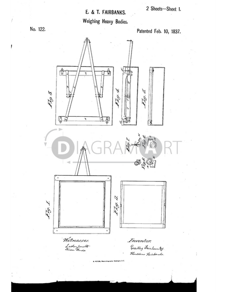 USPTO Patent_0000122 , Free Sketch - Diagramart Author, DiagramArt