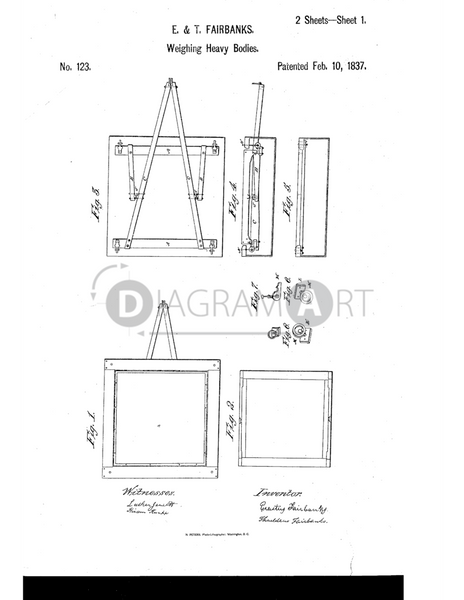 USPTO Patent_0000123 , Free Sketch - Diagramart Author, DiagramArt