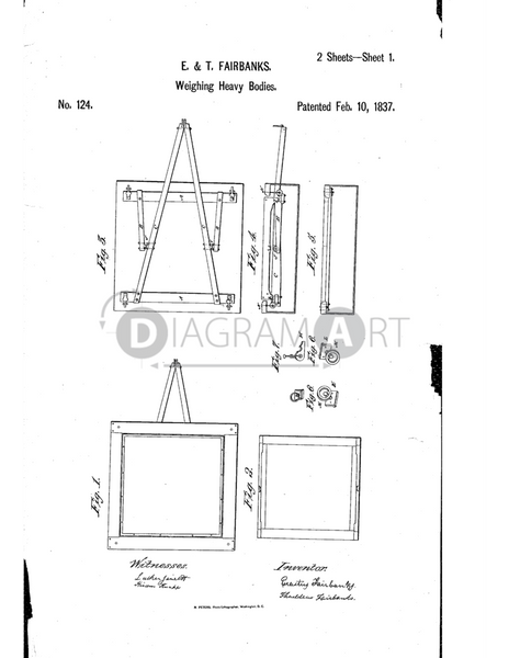 USPTO Patent_0000124 , Free Sketch - Diagramart Author, DiagramArt