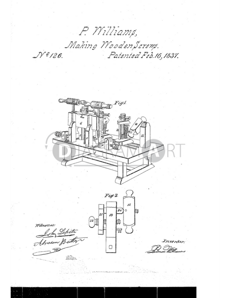 USPTO Patent_0000126 , Free Sketch - Diagramart Author, DiagramArt