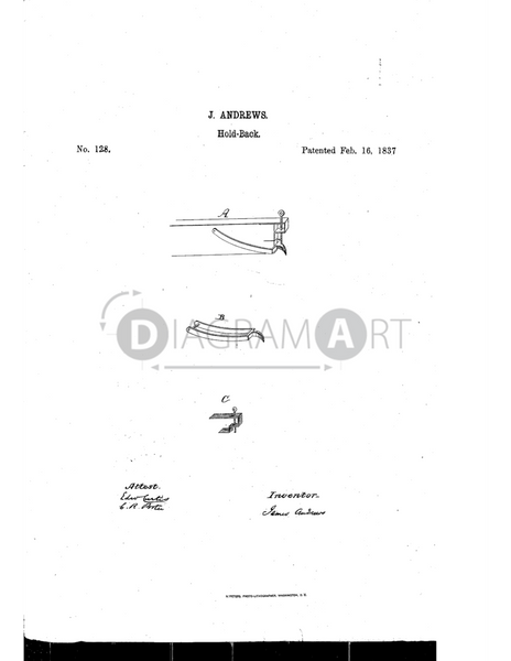 USPTO Patent_0000128 , Free Sketch - Diagramart Author, DiagramArt