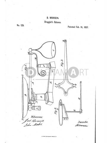 USPTO Patent_0000129 , Free Sketch - Diagramart Author, DiagramArt