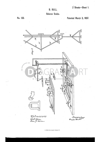 USPTO Patent_0000133 , Free Sketch - Diagramart Author, DiagramArt
