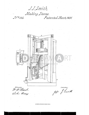 USPTO Patent_0000135 , Free Sketch - Diagramart Author, DiagramArt