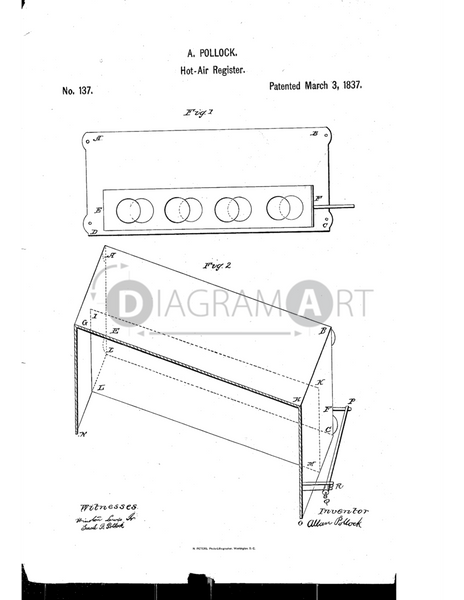 USPTO Patent_0000137 , Free Sketch - Diagramart Author, DiagramArt