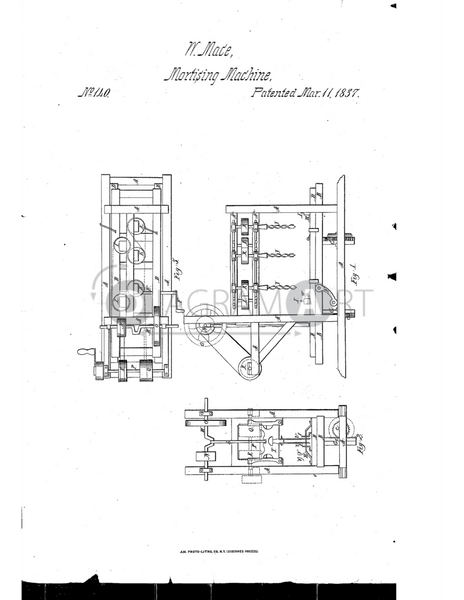 USPTO Patent_0000140 , Free Sketch - Diagramart Author, DiagramArt