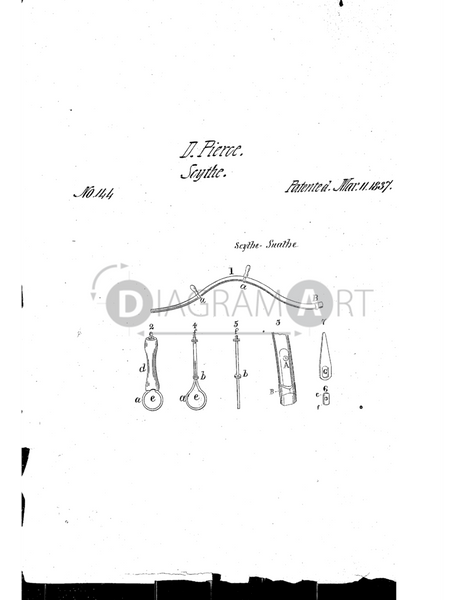 USPTO Patent_0000144 , Free Sketch - Diagramart Author, DiagramArt