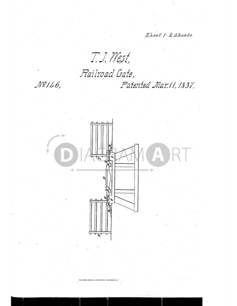 USPTO Patent_0000146 , Free Sketch - Diagramart Author, DiagramArt