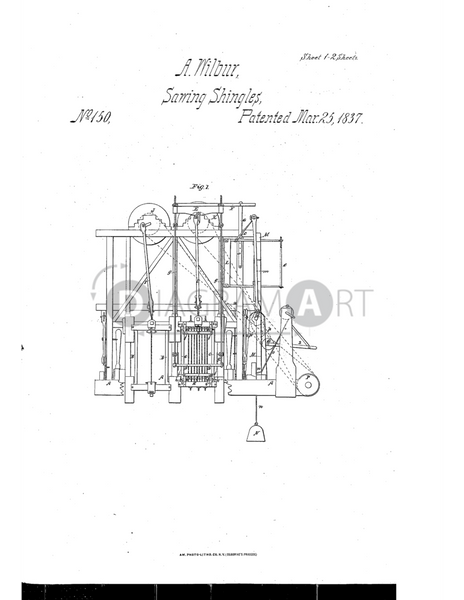 USPTO Patent_0000150 , Free Sketch - Diagramart Author, DiagramArt