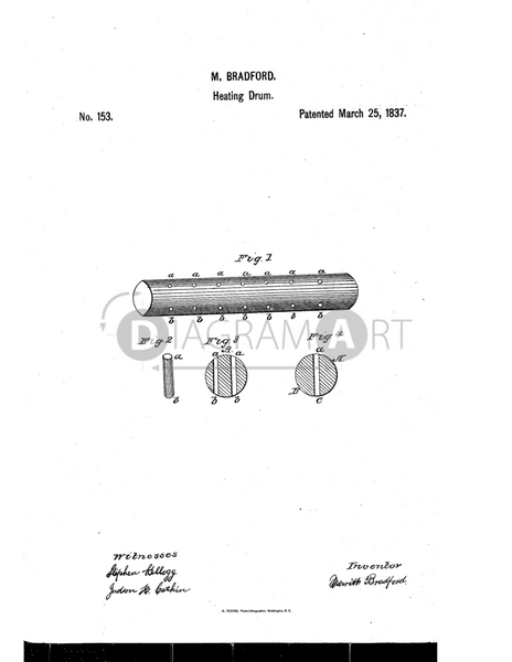USPTO Patent_0000153 , Free Sketch - Diagramart Author, DiagramArt