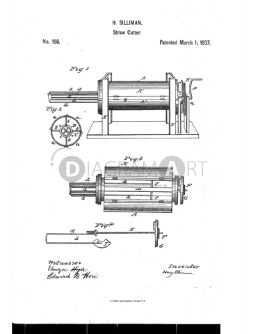 USPTO Patent_0000158 , Free Sketch - Diagramart Author, DiagramArt
