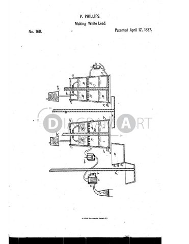 USPTO Patent_0000160 , Free Sketch - Diagramart Author, DiagramArt