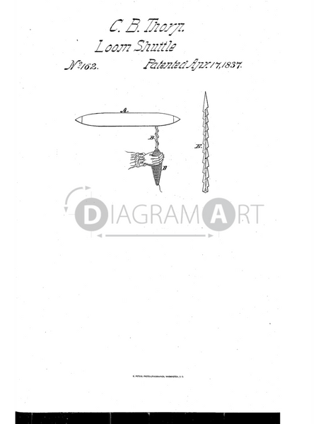 USPTO Patent_0000162 , Free Sketch - Diagramart Author, DiagramArt