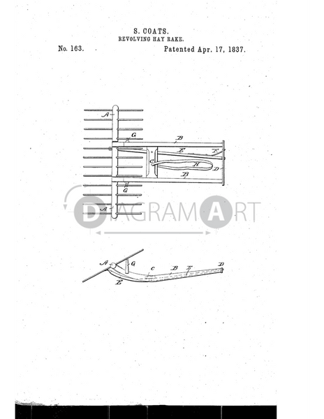 USPTO Patent_0000163 , Free Sketch - Diagramart Author, DiagramArt
