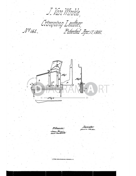 USPTO Patent_0000164 , Free Sketch - Diagramart Author, DiagramArt