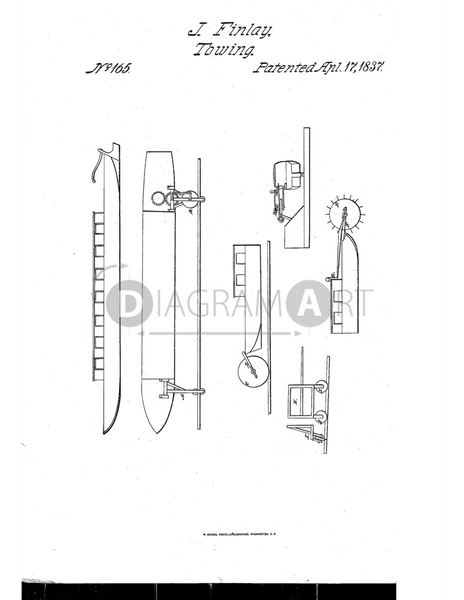 USPTO Patent_0000165 , Free Sketch - Diagramart Author, DiagramArt