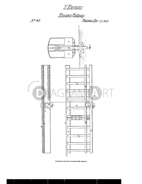 USPTO Patent_0000167 , Free Sketch - Diagramart Author, DiagramArt