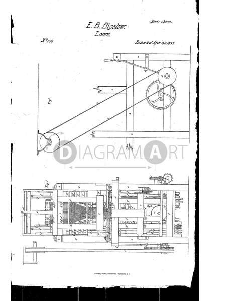 USPTO Patent_0000169 , Free Sketch - Diagramart Author, DiagramArt