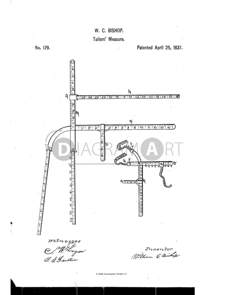 USPTO Patent_0000179 , Free Sketch - Diagramart Author, DiagramArt