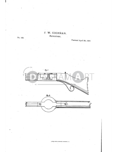 USPTO Patent_0000183 , Free Sketch - Diagramart Author, DiagramArt