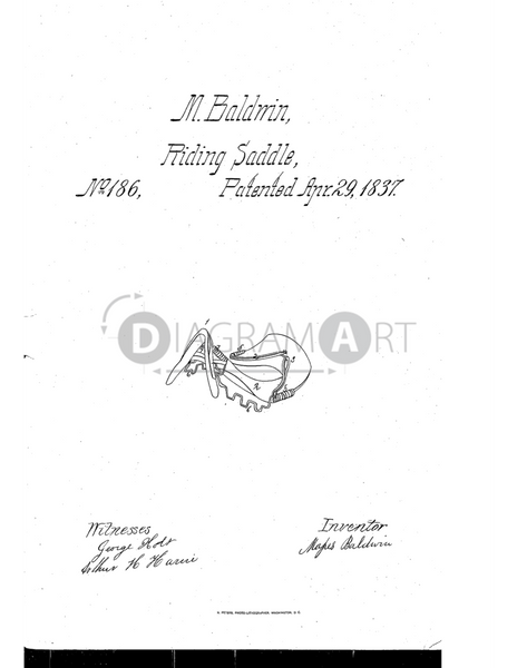 USPTO Patent_0000186 , Free Sketch - Diagramart Author, DiagramArt