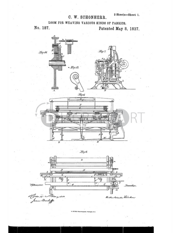 USPTO Patent_0000187 , Free Sketch - Diagramart Author, DiagramArt