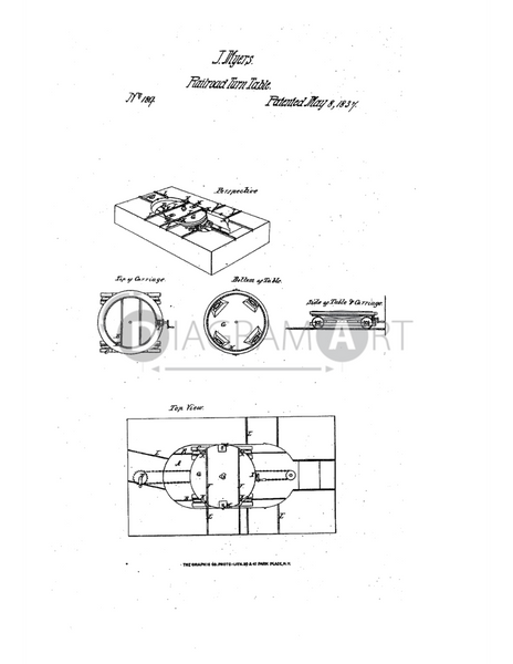 USPTO Patent_0000189 , Free Sketch - Diagramart Author, DiagramArt