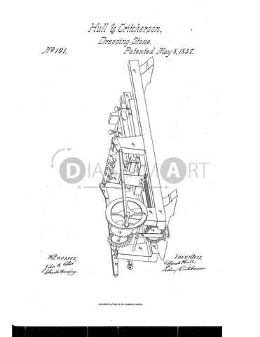 USPTO Patent_0000191 , Free Sketch - Diagramart Author, DiagramArt
