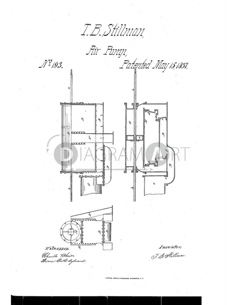 USPTO Patent_0000193 , Free Sketch - Diagramart Author, DiagramArt