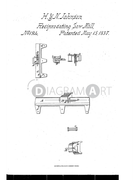 USPTO Patent_0000194 , Free Sketch - Diagramart Author, DiagramArt