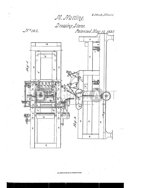 USPTO Patent_0000195 , Free Sketch - Diagramart Author, DiagramArt