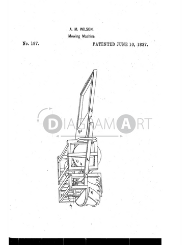 USPTO Patent_0000197 , Free Sketch - Diagramart Author, DiagramArt