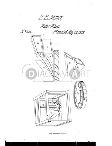USPTO Patent_0000204 , Free Sketch - Diagramart Author, DiagramArt