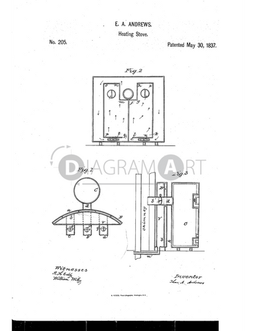 USPTO Patent_0000205 , Free Sketch - Diagramart Author, DiagramArt