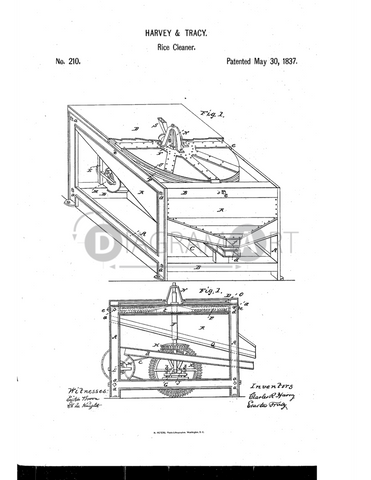 USPTO Patent_0000210 , Free Sketch - Diagramart Author, DiagramArt