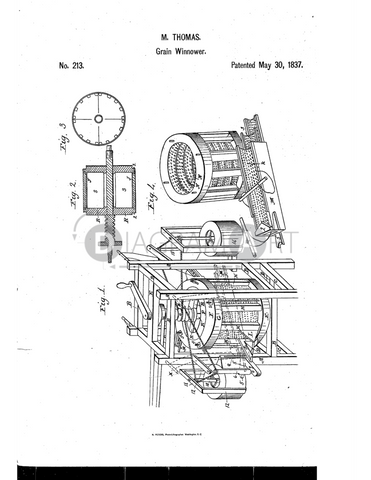 USPTO Patent_0000213 , Free Sketch - Diagramart Author, DiagramArt
