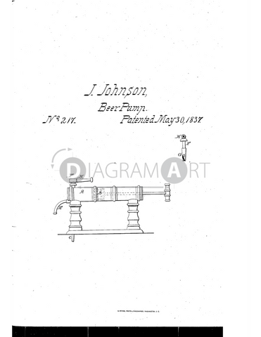 USPTO Patent_0000217 , Free Sketch - Diagramart Author, DiagramArt
